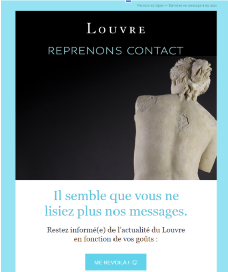 Louvre email reactivation